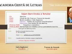 Convite 18/8/2020:  Tertúlia da Academia Cristã de Letras