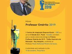 Paulo Nathanael Pereira de Souza é o novo Guerreiro da Educação no ano de 2019
