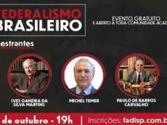 Palestra: Federalismo Brasileiro - FADISP -19/10/2021