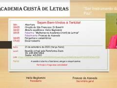 Convite 21/09/2021: Tertúlia da Academia Cristã de Letras