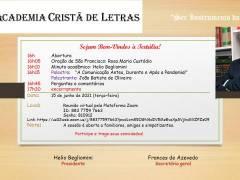 Convite 15/06/2021: Tertúlia da Academia Cristã de Letras